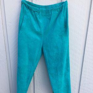 Vintage suede teal pants